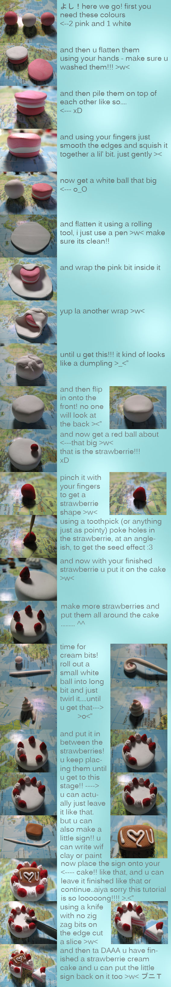 Strawberry Cake charm Tutorial by PuniTotoro