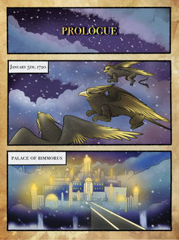 Page 1, Graphic Novel, Realm of the Griffins!