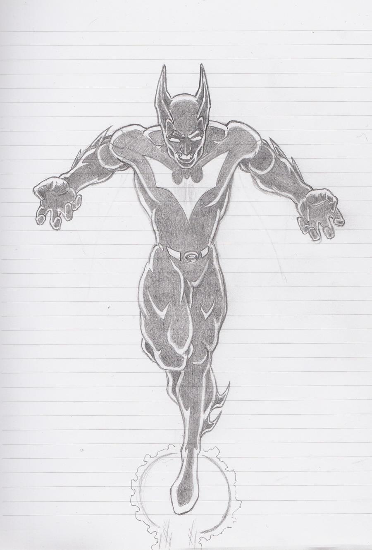batman beyond pencil version by sketch252 on deviantart