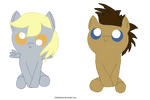 Cute Derpy Hooves and Doctor Whooves