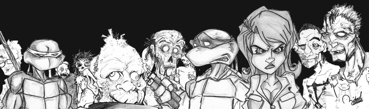 TMNT vs ZOMBIES by ramova