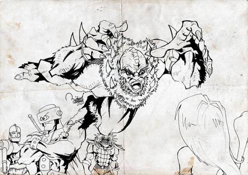 Beast Man Attacks!