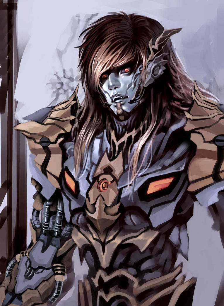WIP, Some vampire armor cyborg thinggy practice by Clearmirror-StillH2O