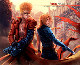 Edward Elric X Vash the Stampede by Clearmirror-StillH2O