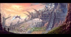 Alien Fortress by Clearmirror-StillH2O