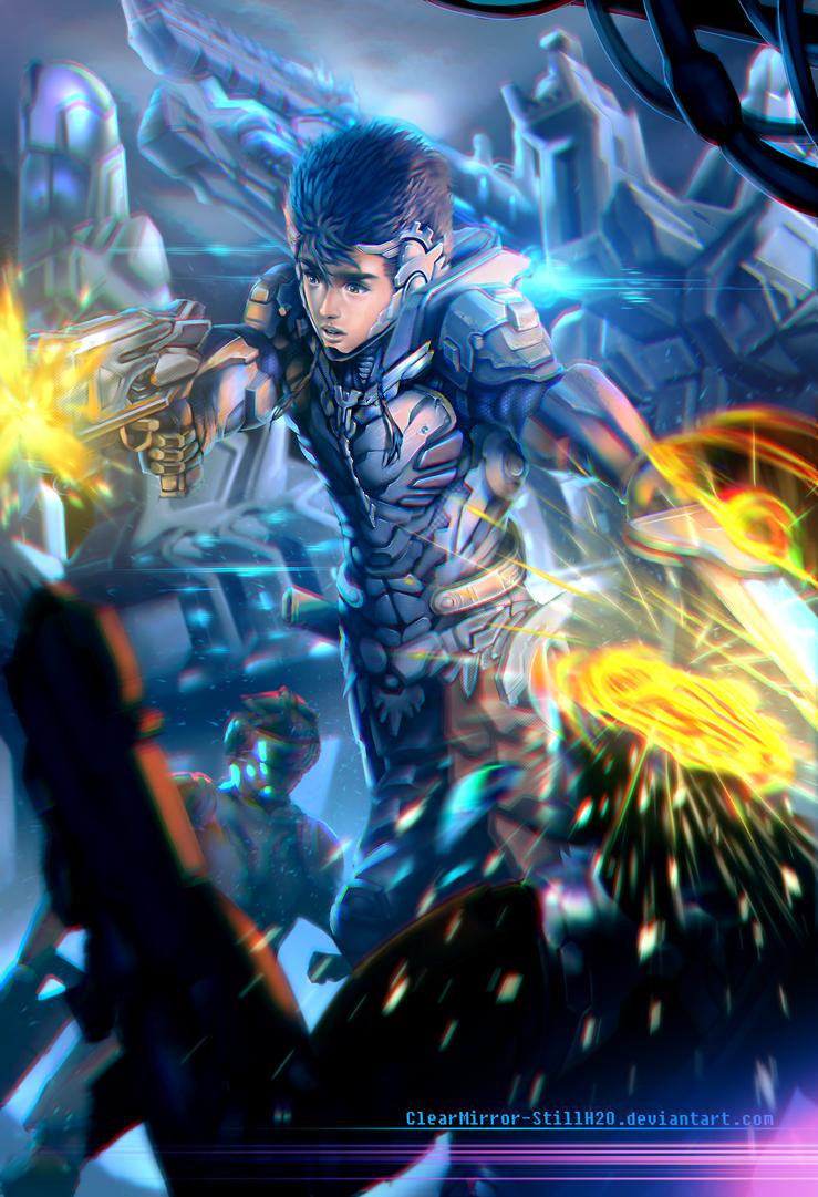 Cyber Samurai Concept by Clearmirror-StillH2O