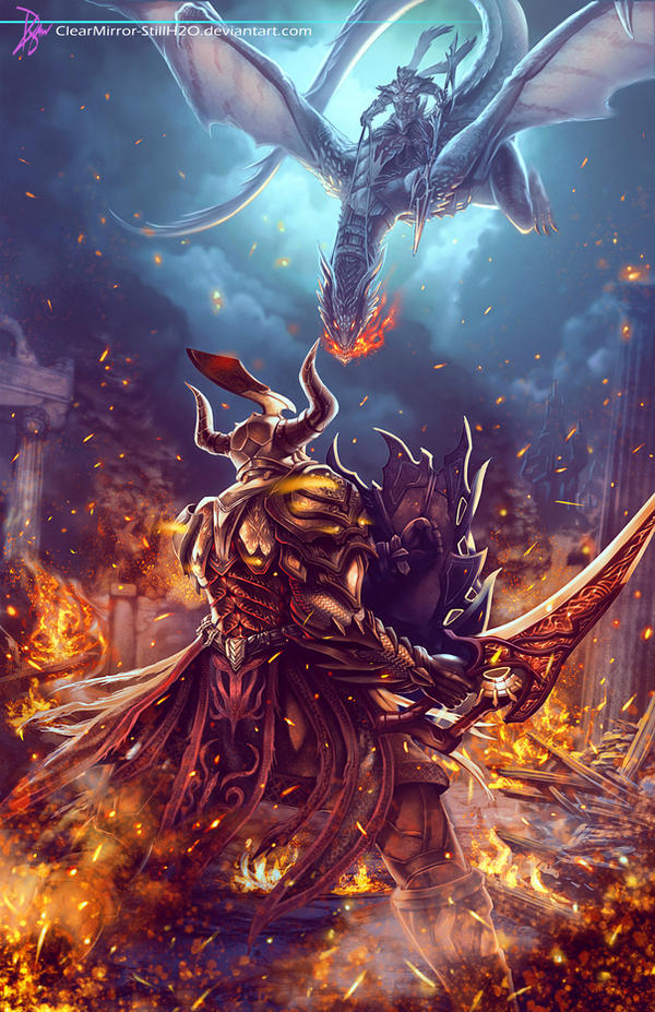 Dragoon Knight vs Dragon Rider by Clearmirror-StillH2O