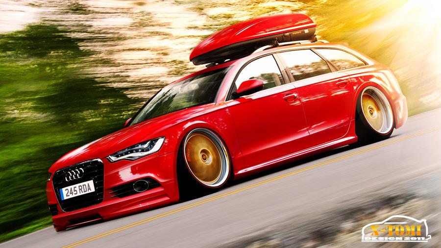 Audi A6 3.0TDI Avant Hellaflush by x-tomi