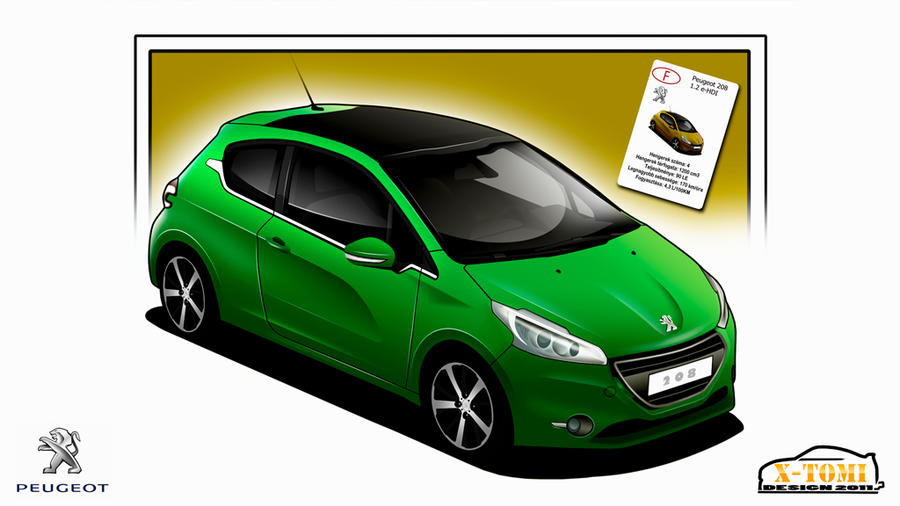 Peugeot 208 CarToon by x-tomi