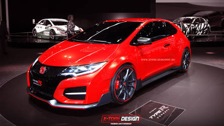 Honda Civic Type-r 3door concept by x-tomi