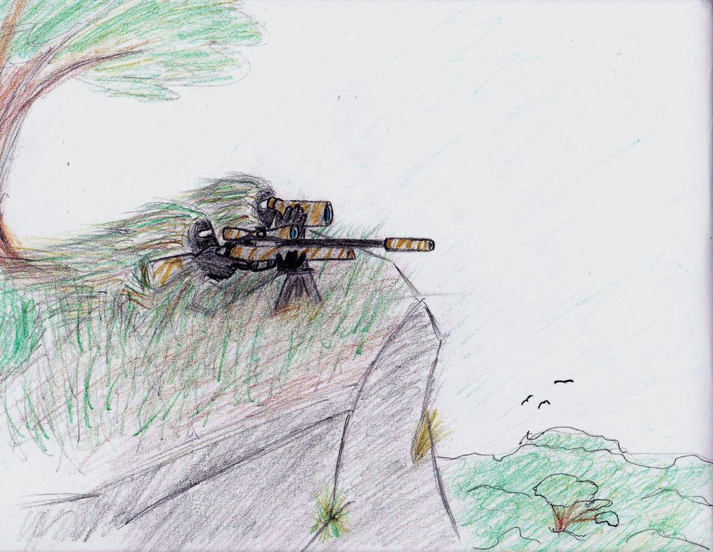 Ghillie sniper drawings