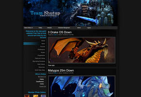 Team Shutup Website Mockup by Hebbylaya