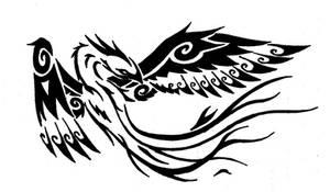 Tribal Phoenix by onlyono