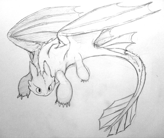 Cool drawings of toothless pictures to pin on pinterest for Cool detailed drawings