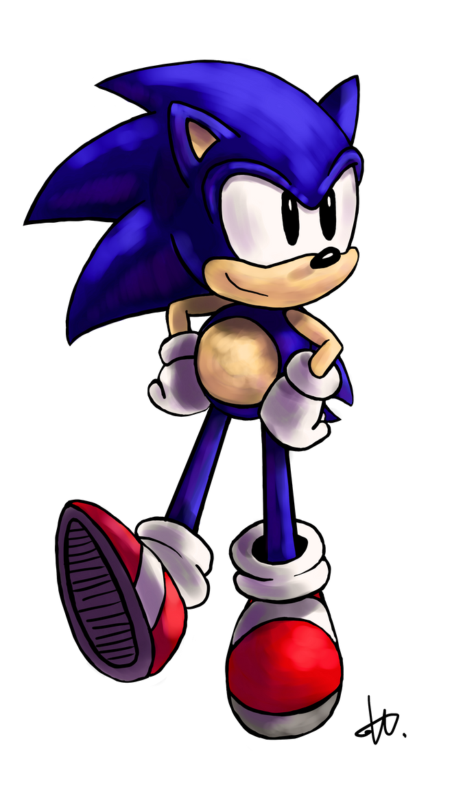 Classic Sonic by Kyubi-the-Fox