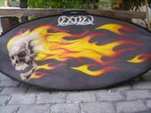 Flaming Skulls by DethGunz