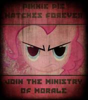 Ministry of Morale Propaganda Poster by DirtPoorRiceKing