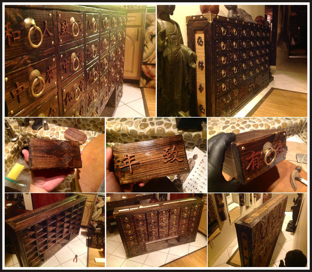 Asian Weathered Apothecary Cabinet by MauruCat on DeviantArt