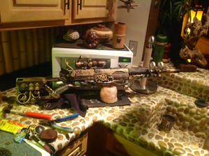 Steampunk rifle full right detail
