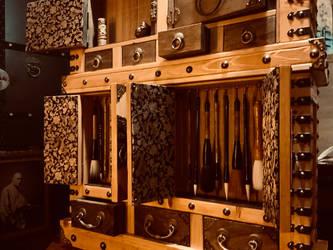 Armored Artists Tansu Sumi Brush Vault