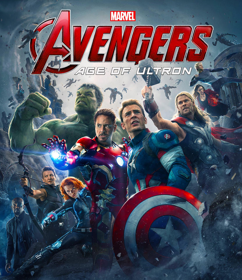 Avengers Age Of Ultron By Iloegbunam On Deviantart: Avengers: Age Of Ultron Blu Ray Front Cover By Sachso74 On
