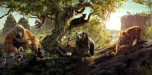 The Jungle Book Triptych Poster Textless 5064x2500 by sachso74