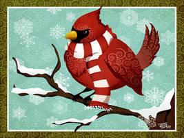 :winter wonderland: cardinal by flashparade