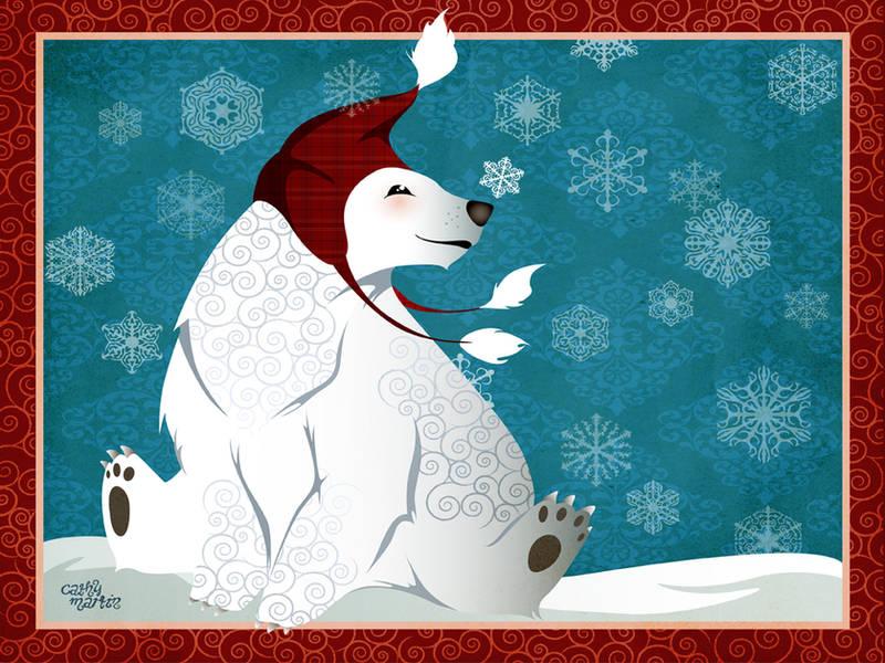 :winter wonderland: polar bear by flashparade