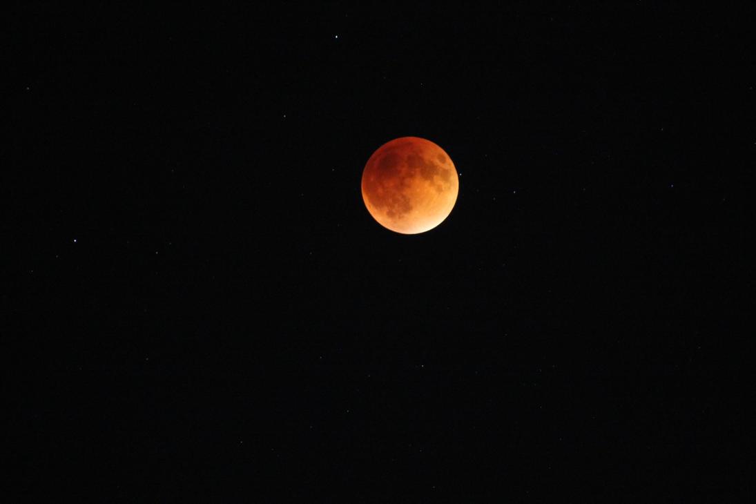 2015 Super Blood-Moon Eclipse. by shobonimaster
