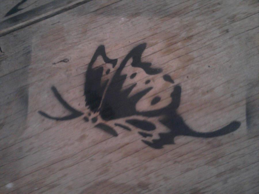 butterfly stencil by Kitel7997