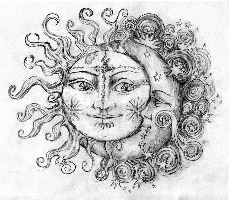Tattoo Ideas Sun And Moon: Sun And Moon By 6vladimira6 On DeviantArt
