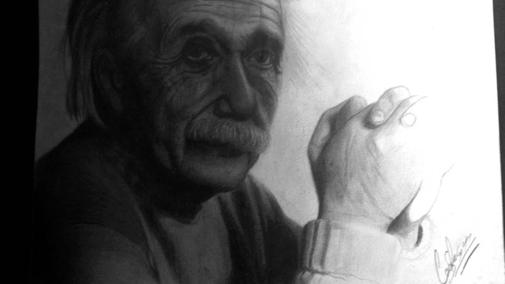 albert einstein desenho realista by csoragazzi on deviantart