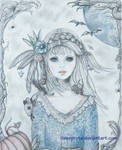 Dreaming of Halloween - colored pencil -