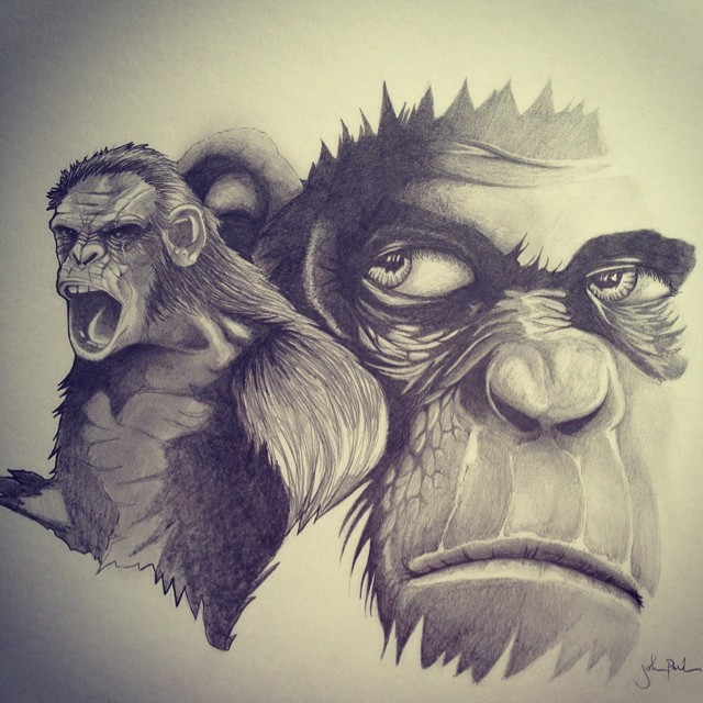 Dawn of the Planet of the Apes by iamthespectre