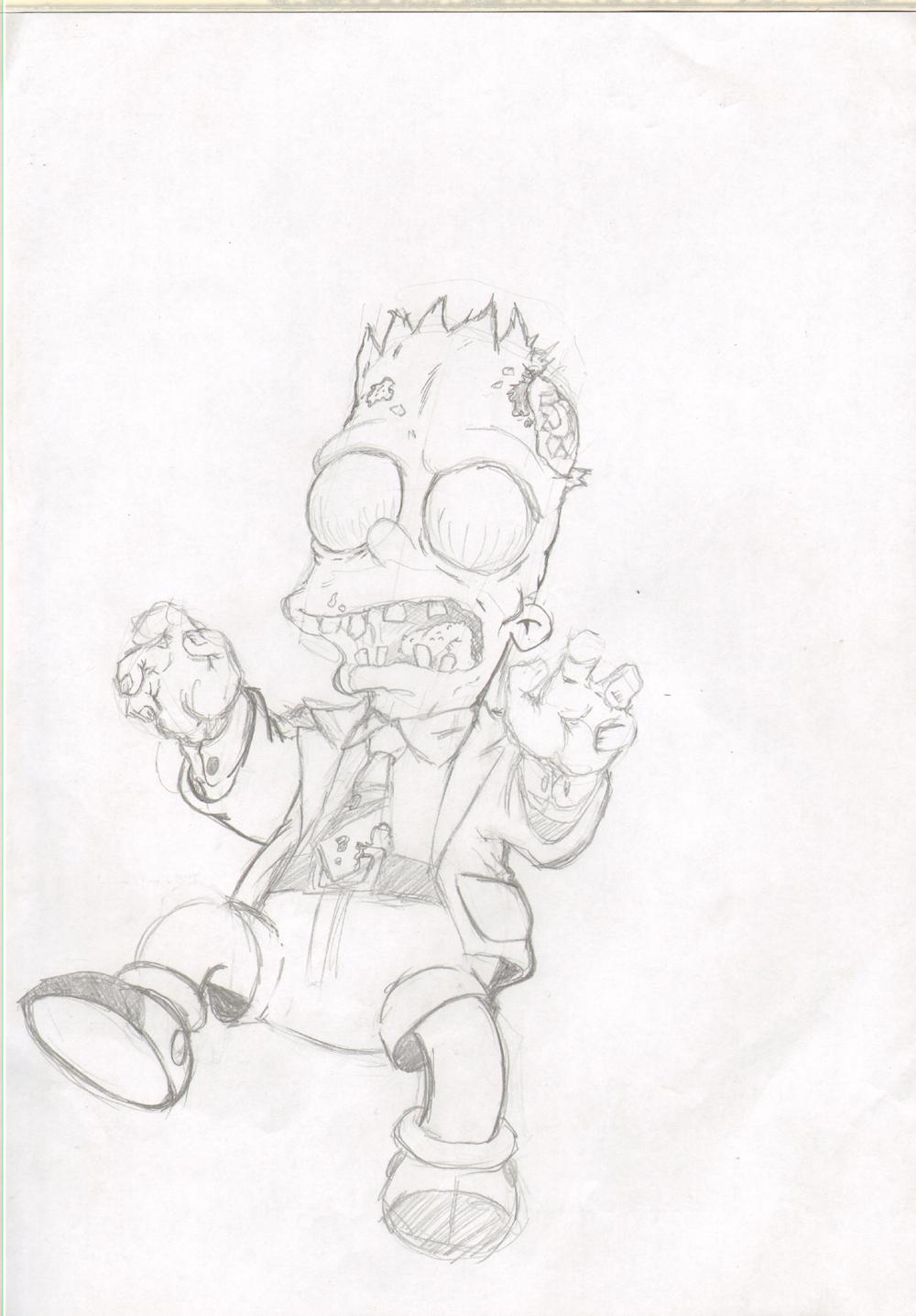 zombie Bart by gundam5