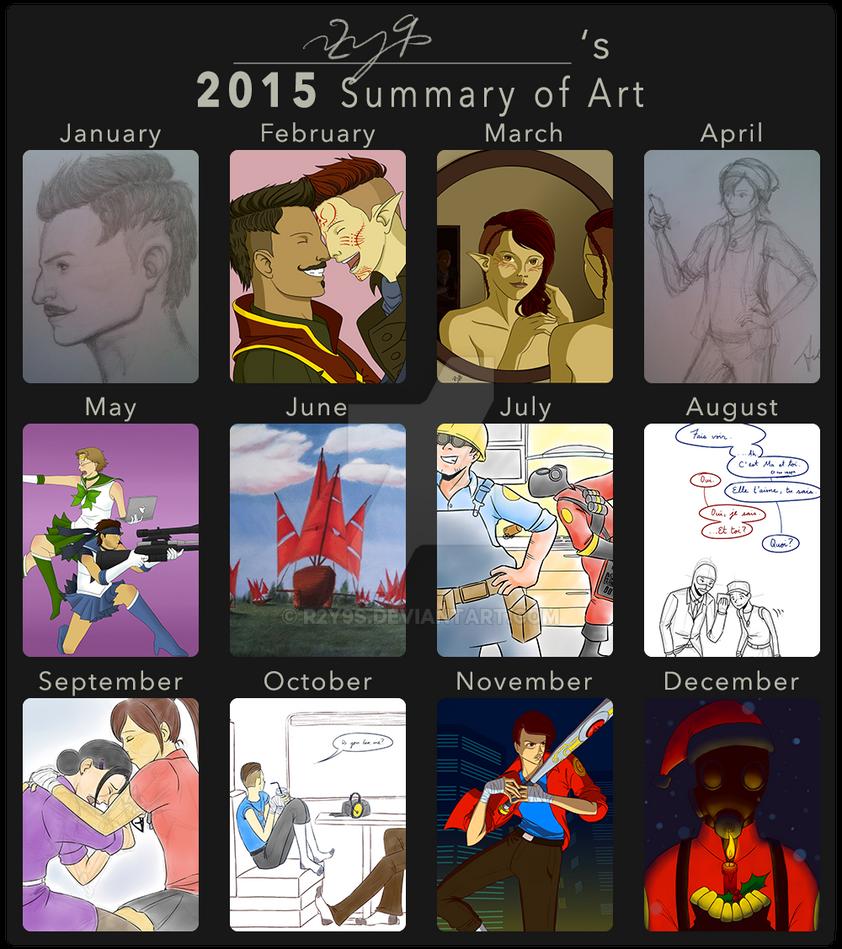 2015 Art Summary by r2y9s