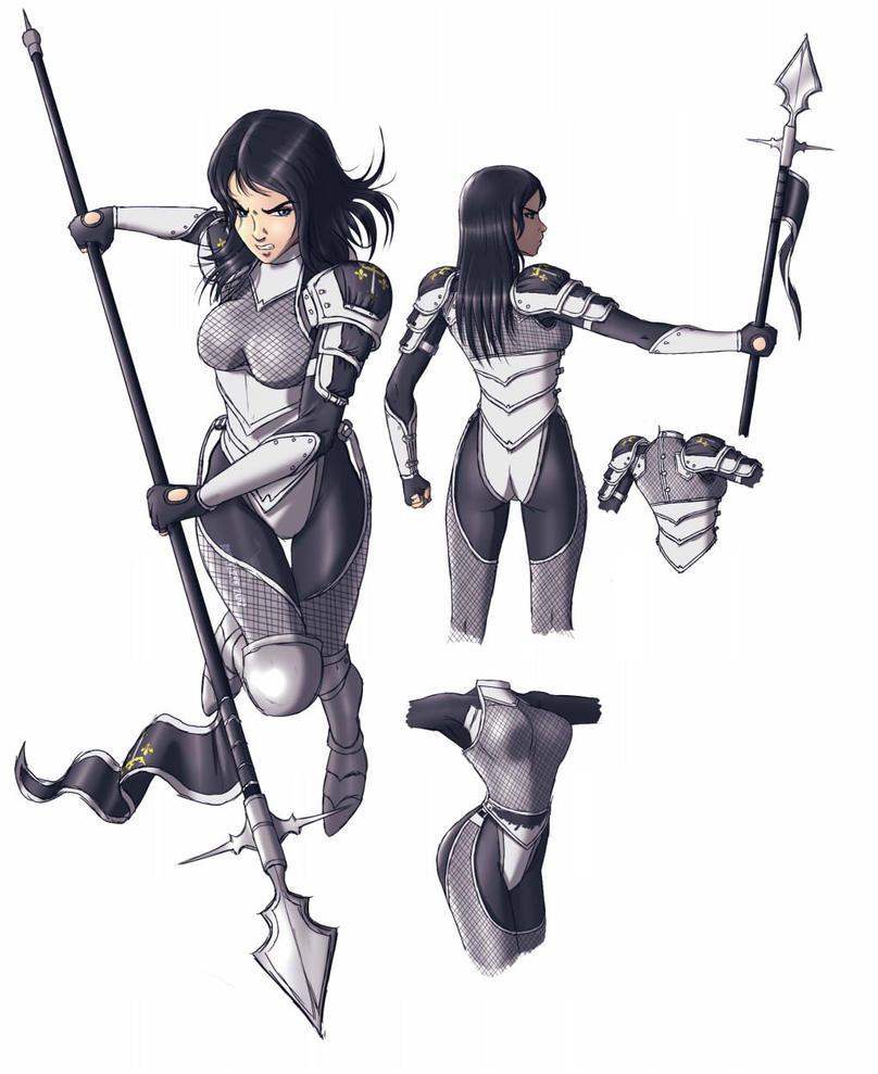 Character Ellise design by reptileye