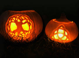 Celtic Halloween Pumpkins by Navanna