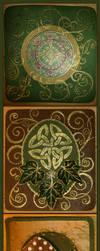 Celtic and Mushroom Yule Cards by Navanna