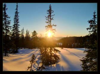 Sunset in Winterland by Navanna