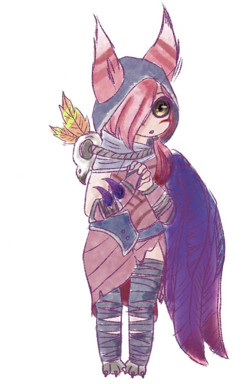 xayah #30daysmonstergirl -harpy by cupcat-sparkle