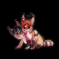 Lynx buddies by Magicpawed