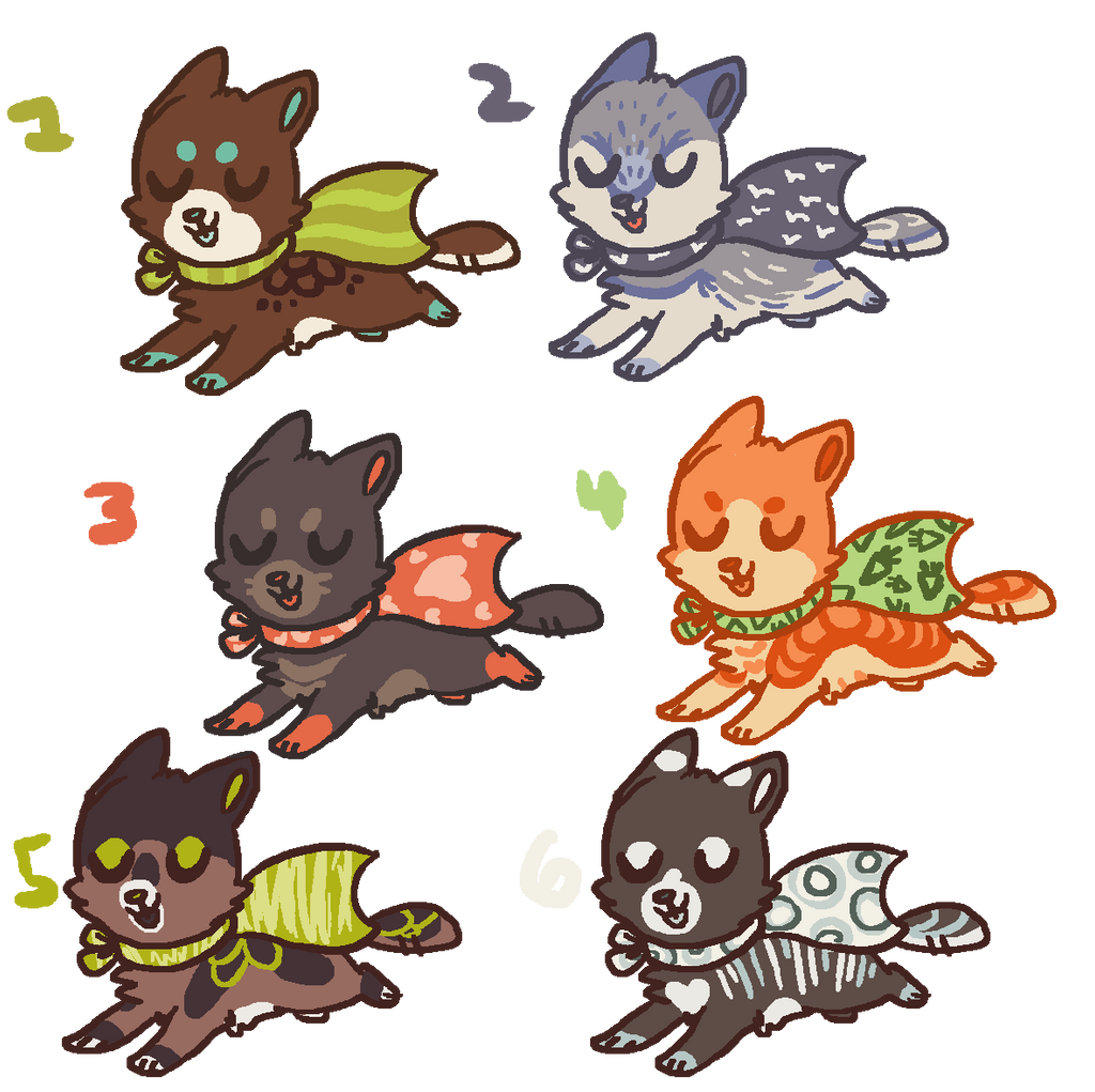 Cape Kits ADOPTABLES NOW FOR POINTS TOO by Magicpawed