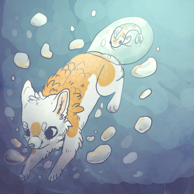 Koi Dive Redraw by Magicpawed