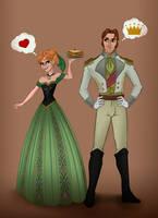 Frozen Anna and Hans Love Is an Open Door by violetatranceart