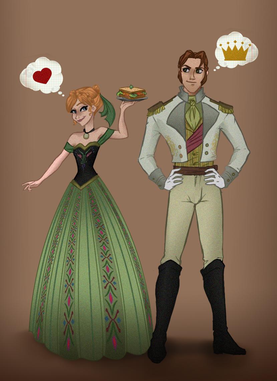 Frozen Anna And Hans Love Is An Open Door By