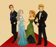Frozen Ready for the Oscars! by violetatranceart