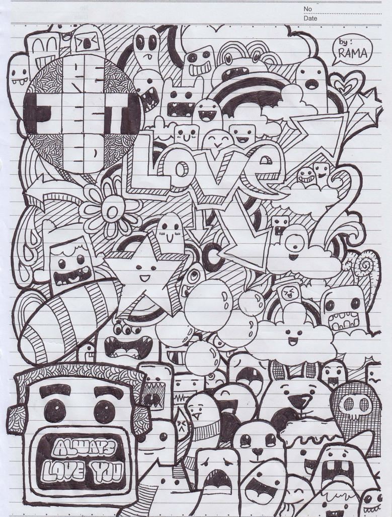Doodle art love by rachmatarrmdhn on deviantart for Love doodles to draw