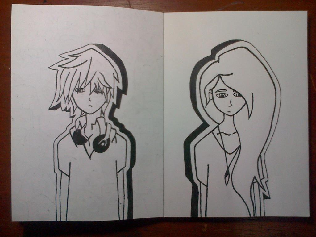 Boy And Girl Sketch Tumblr Sketch : Boy and Girl ...