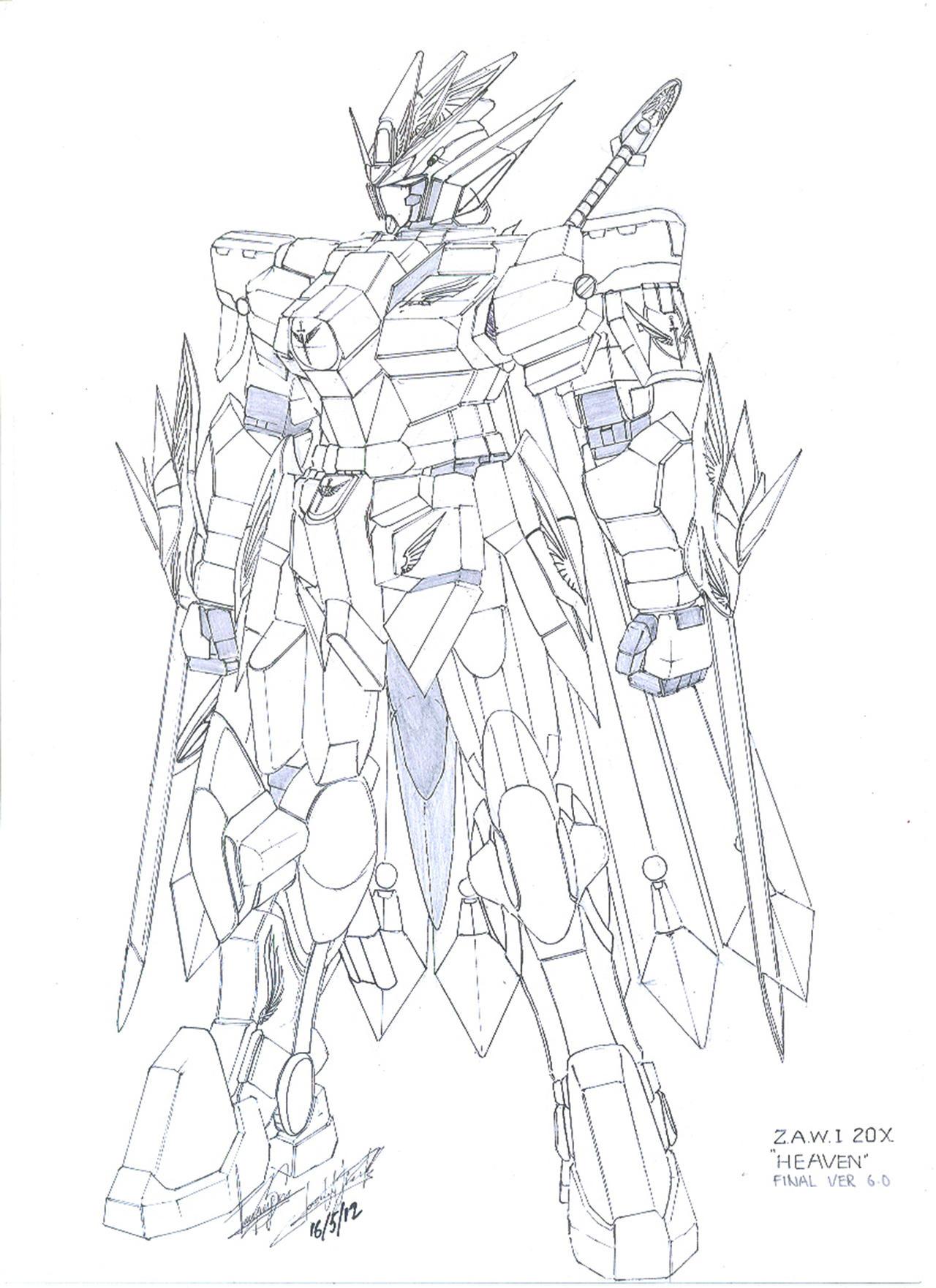 Z.A.W.I 20X Heaven Gundam by WhiteHawk91